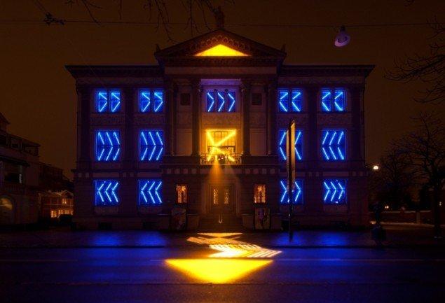 Tamar Franks lysudstilling ved Fyns Kunstmuseum. Pressebillede.