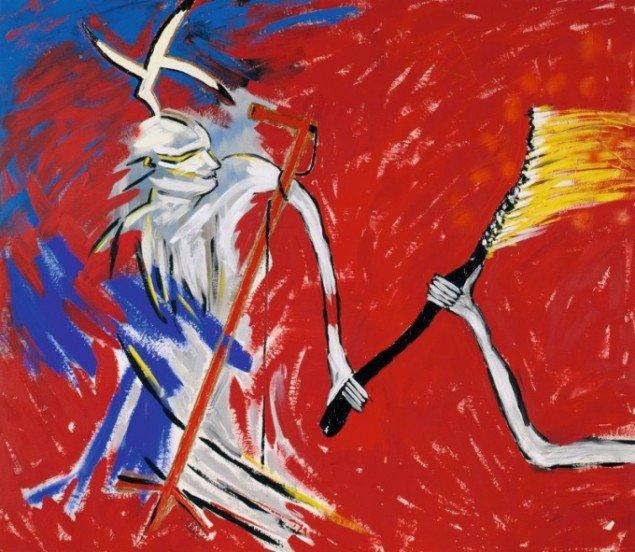 Succubus jagter ilden II, Berit Heggenhougen-Jensen, 1982, Foto: Ole Hein Petersen