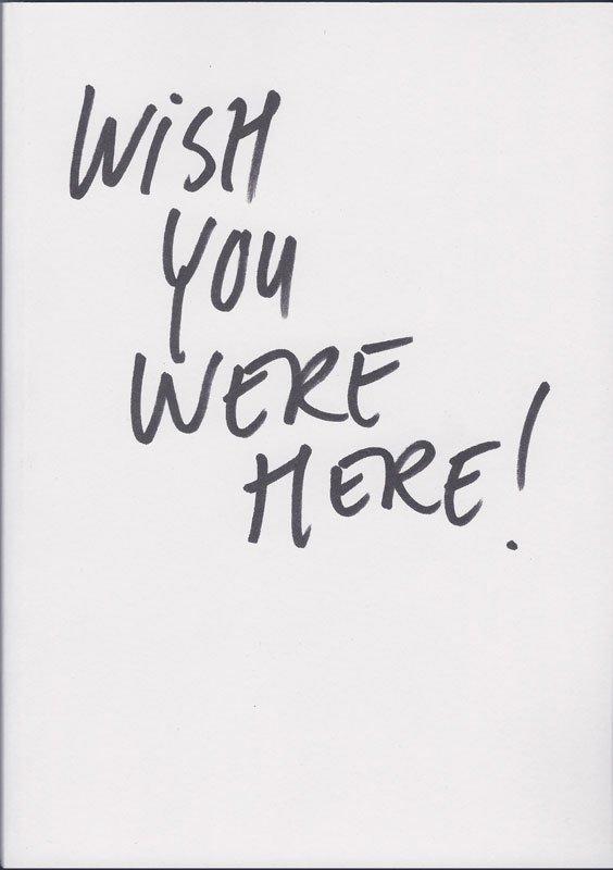 Cover til bogen Wish You Were Here, der udkommer 15. jan. 2011.