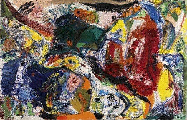 Asger Jorn: Døddrukne danskere, 1960, 130 x 200 cm