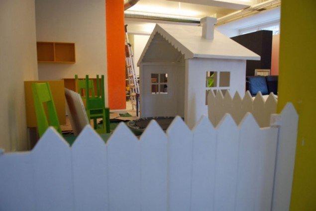 Husets børnehjørne. (Foto fra husets hjemmeside)