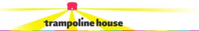 Trampolinhusets logo.