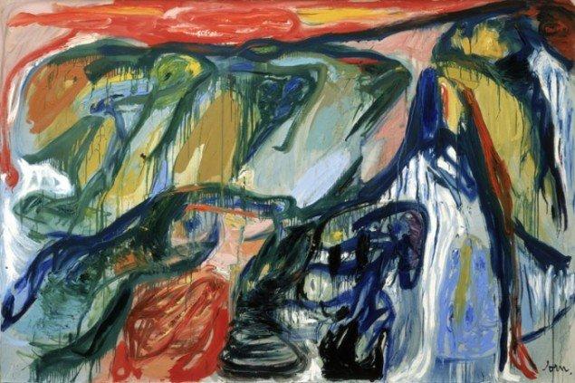 Asger Jorn: Im Flügelschlag der Schwäne, 1963. Tilhører Stedelijk Museum, Amsterdam. Foto Stedelijk Museum, Amsterdam © Donation Jorn, Silkeborg.