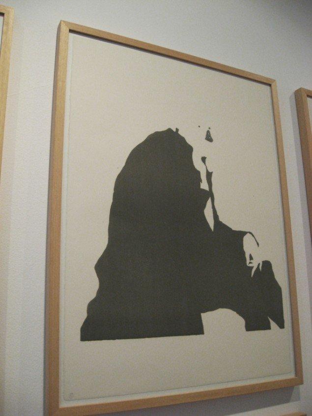 Michael Kvium, del af serie på 26 litografier. Foto: Jeppe Lentz