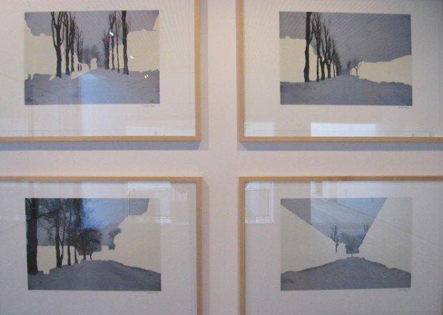 Miroslaw Balka. A crossroad in A. Serie på fire litografier. Foto: Jeppe Lentz