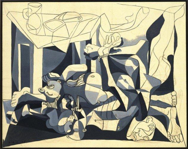 Pablo Picasso: Le Charnier (Lighuset). Paris, 1944-45. (Foto: Museum of Modern Art (MoMA); N.Y. © Succession Picasso).