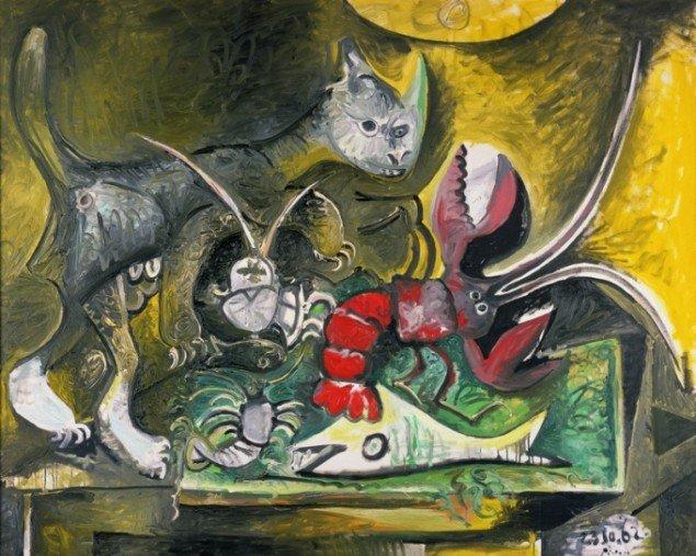 Pablo Picasso: Chat et homard (Kat og hummer), 1962. (Foto: The Hakone Open-Air Museum, Japan © Succession Picasso).