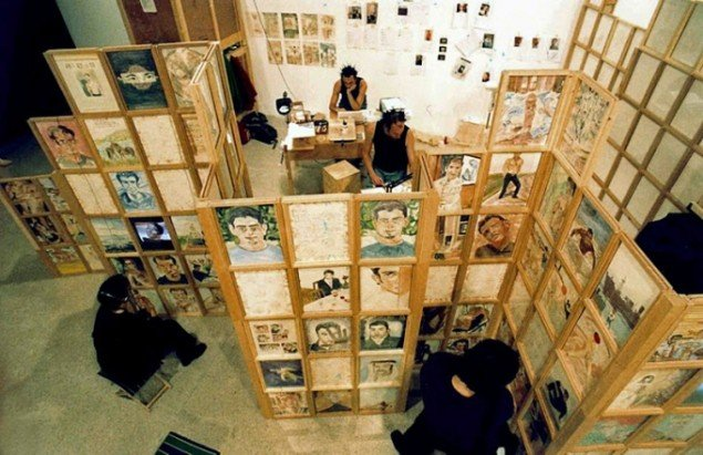 Dating Gil & Moti: Værket viser resultatet af fortolkninger af billeder fra et tværkulturelt dating website for bøsser. Courtesy: Museum Moderner Kunst Stiftung Ludwig Wien. (Pressefoto)