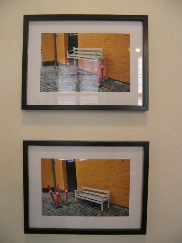 Brad Downey efterlod sig også et værk af biskoppens bænk i en modificeret udgave: The Bench (before), The Bench (after), 2010 (Foto: Solveig Lindeskov Andersen).