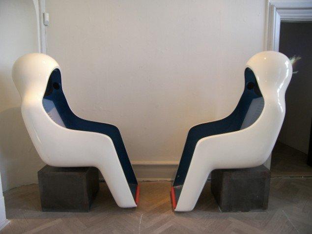 En række værker fra samlingen af lydkunst bliver afspillet i museets lyttestole (Foto: Solveig Lindeskov Andersen).