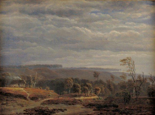 Dankvart Dreyer Udsigt over skovrigt landskab. 1840-41. Foto: SMK Foto