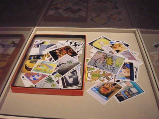 Christian Vind, En tungebog, 2005-2007. Ca. 150 reproduktioner i AGFA fotoæske, 2,5 x 19,5 x 26,5cm. Foto: Pernille Bøttcher.