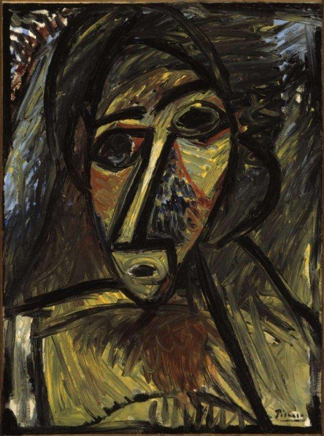 Picasso: Bröstbild av kvinna, 1907 © Succession Picasso/BUS 2011 (Foto: Pressefoto).