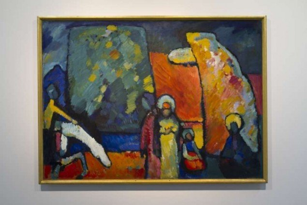 Wassily Kandinsky: Improvisation nr 2, Sorgmarsch, 1908 © Wassily Kandinsky/BUS 2011 (Foto: Pressefoto).