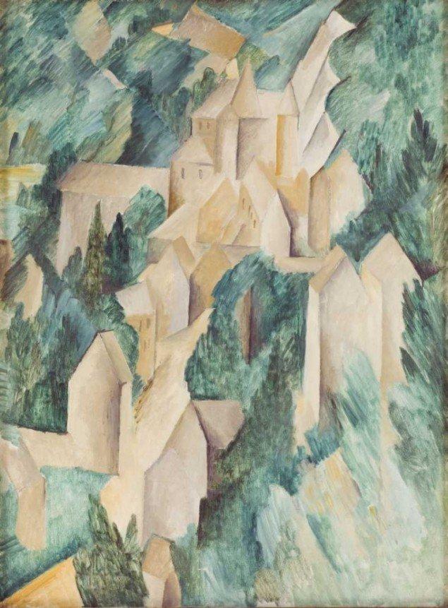 George Braque: Slottet i La Roche-Guyon, 1909 © Georges Braque/BUS 2011 (Foto: Pressefoto).