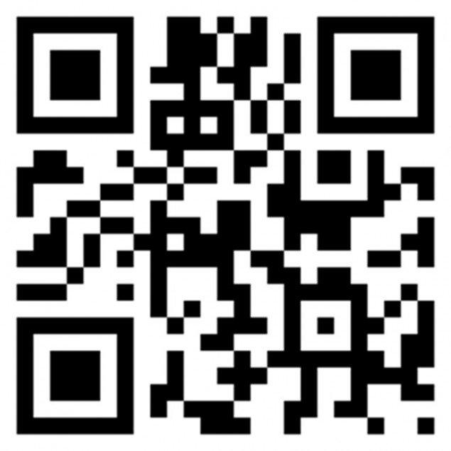 QR koden der linker til ægte David Hockney kopier. (Fra Louisianas hjemmeside)