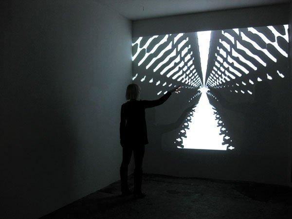 RETROACTION II på udstillingen Night is Night Personified på galleri WAS, 2010 (Pressefoto).