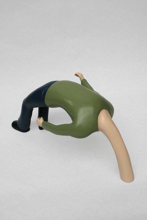 Fredrik Raddum: Bending Man. Foto: Charlotte Fogh Contemporary.