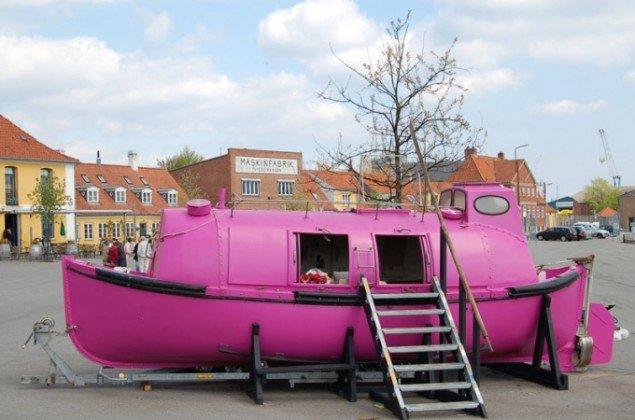 Pink Army (Aarhus Artillery): Pink Hope, Søndre Havn. (Foto: Lis Ella Fruervang)