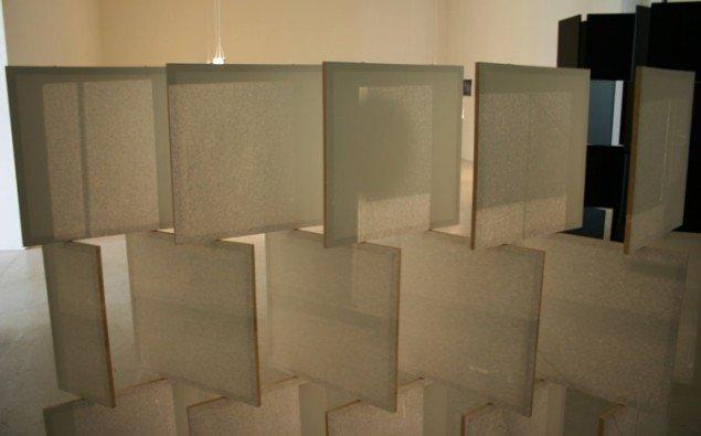 Skærme, der imiterer Grays arkitektur. Foto: Kristian Handberg.