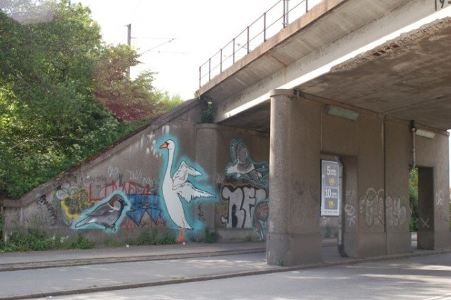 Anne Bennike: Fugle under broen (Foto: Malene Nors Tardrup).