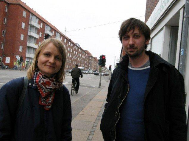 Heidi Hove og Jens Axel Beck foran Ålekistevej. (Foto: Nanna Skov).