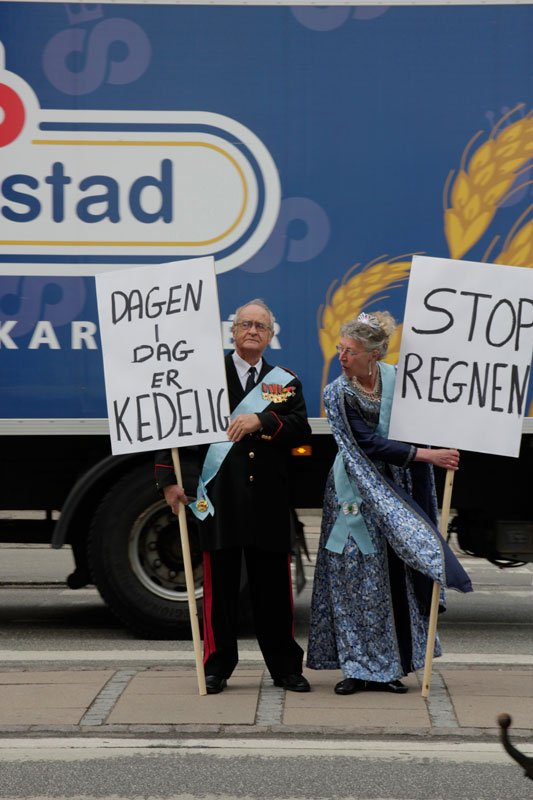 Ben Kinsley & Jon Rubin: Royal Danish Protestors (Foto: Malene Nors Tardrup).