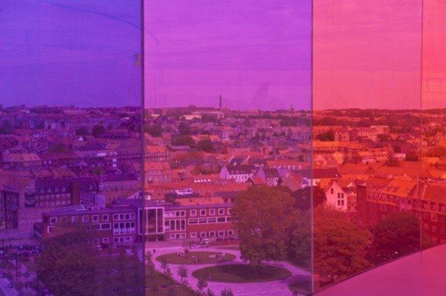 Pink view over Aarhus. Foto: Ole Hein Pedersen