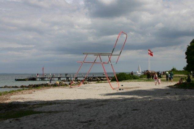 Iian Sanders gigantiske havestol Beach Chair. Foto: Anne Mette Thomsen