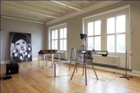 Udsnit af udstillingen INGE - kvinder som opdagede jordens indre kerne (Pressefoto).