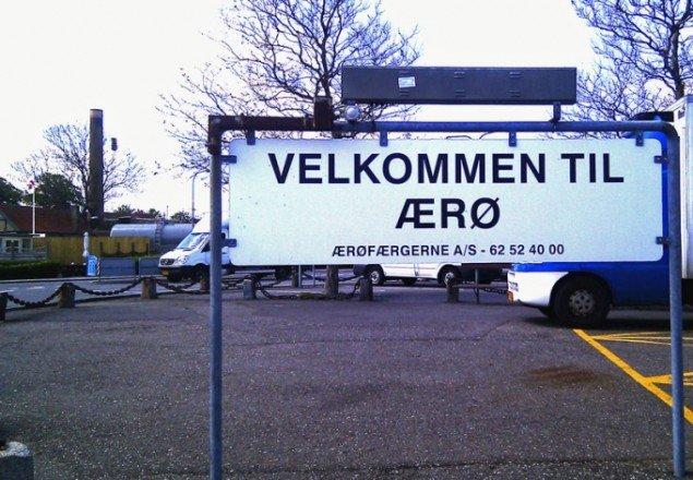 På Ærø har lokale ildsjæle indstillet Ærøfærgen. Den får nu kunst til halvanden million kroner. (DR Pressefoto)