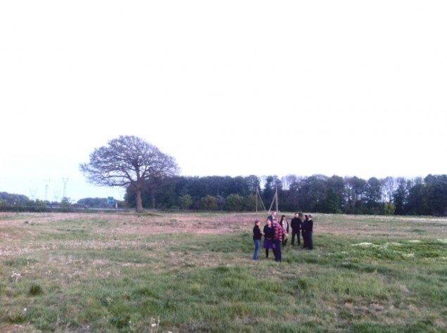 Vores Kunst - Trekantsområdet (Vejle, Kolding og Fredericia), på en brakmark. Her kommer der kunst for en halvanden milion. (DR Pressefoto)
