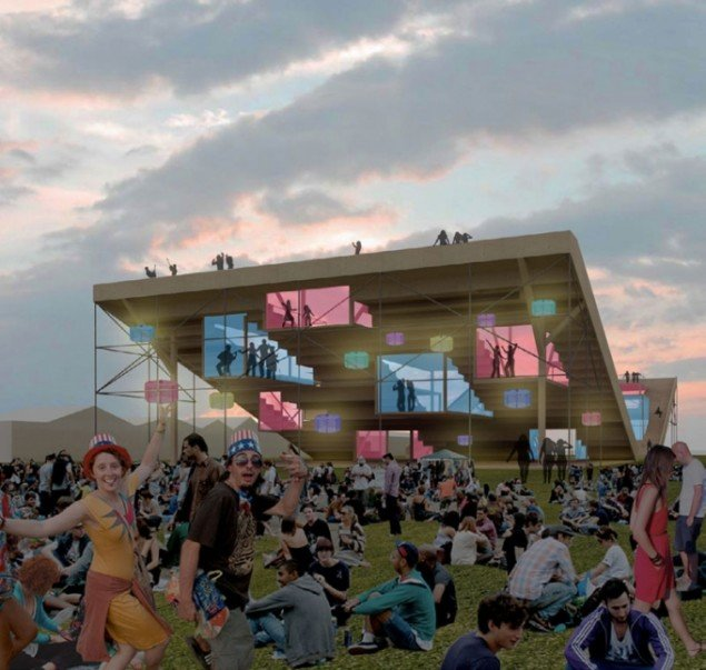 Vinderprojektet, Why Don't We Do It on The Stairs fra DAC og Roskilde Festivalens konkurrence. (Pressefoto)