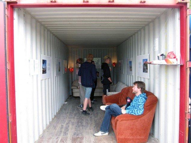 Udstillingscontaineren i Art City. Foto: Maj Hasager)