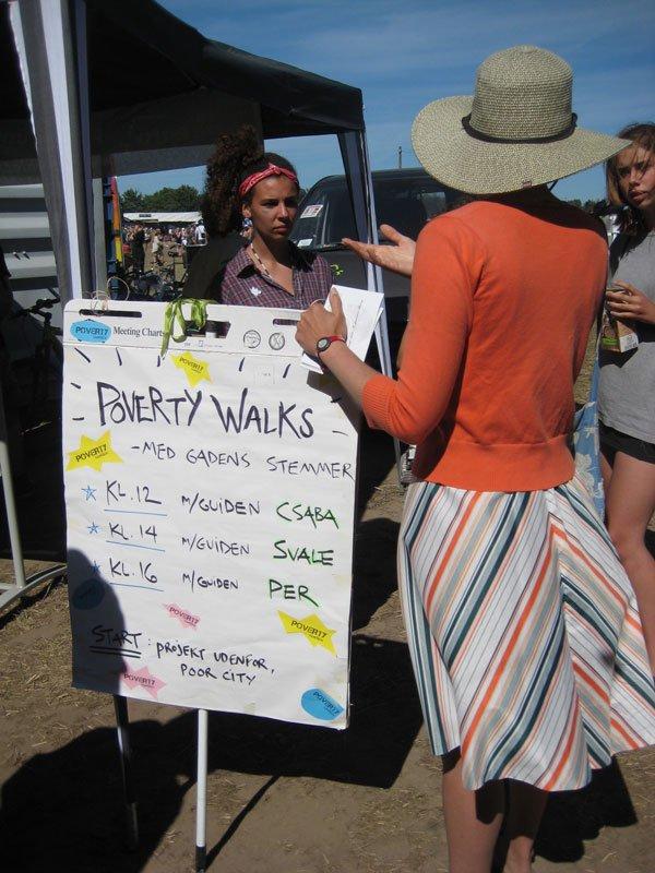 Projekt Udenfor står for Poverty Walks med hjemløse. (Foto: Mette Garfield)