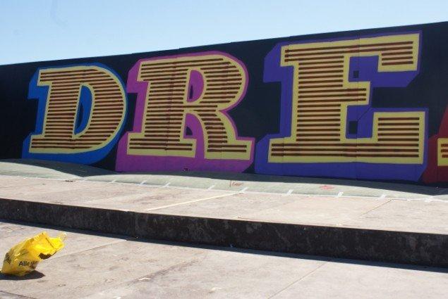 Ben EINE er kendt for sine grafiske, farverige bogstaver. Foto: Nanna Skov