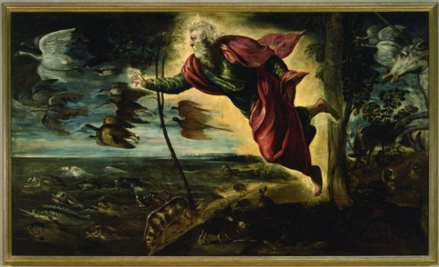 Tintoretto, La creazione degli animali (The Creation of the Animals) 1550-1553. (Pressefoto, La Biennale)