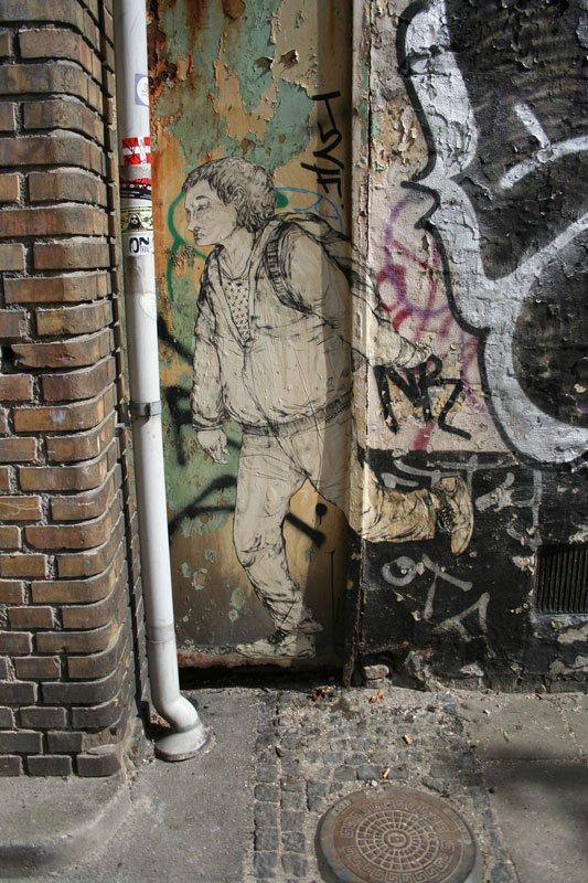 Paste-up af Armsrock. (Foto: Armsrock og Dansk gadekunst)