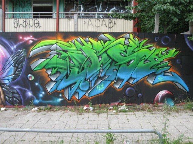Værk af Juse. (Foto: JuseOne og Dansk gadekunst)