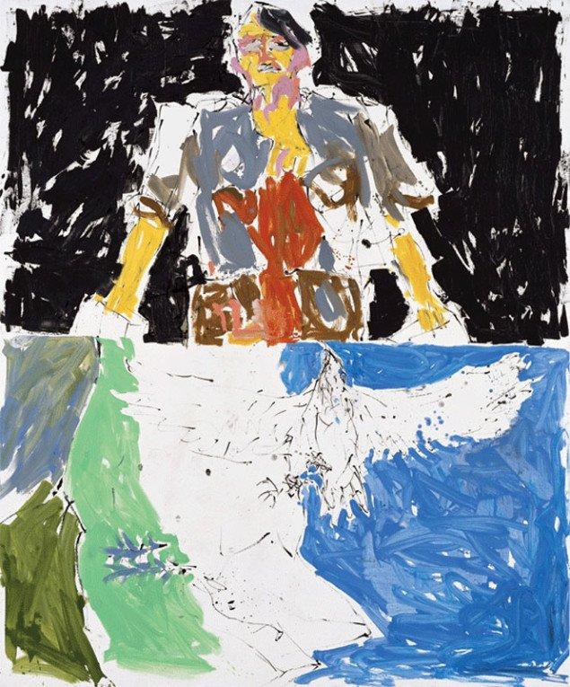 Georg Baselitz: Adler 53 – Held 65 (Remix), 2007. (Foto: Jochen Littkemann)
