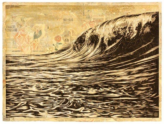 Shepard Fairey: Dark Wave. Foto: John Furlong.