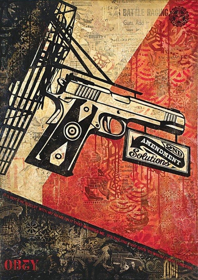 Shepard Fairey: Amendment Solutions. Foto: John Furlong.