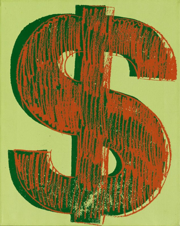 Andy Warhol, Dollar Sign, 1981. (Foto: Peter Schälchli)