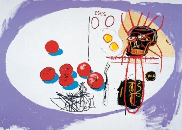 Andy Warhol & Jean-Michel Basquiat , Eggs, 1985. (Pressefoto)
