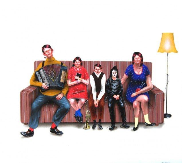Jakob Tolstrup: Portræt af en familie, 2011. (Pressefoto)