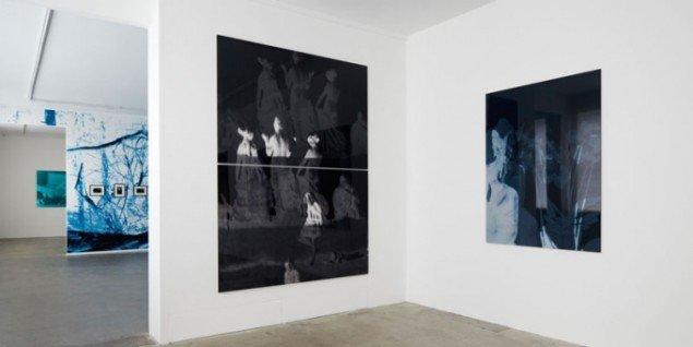 Installationsview, Erik Steffensen: Blue Notes, Galleri Bo Bjerggaard. (Pressefoto)