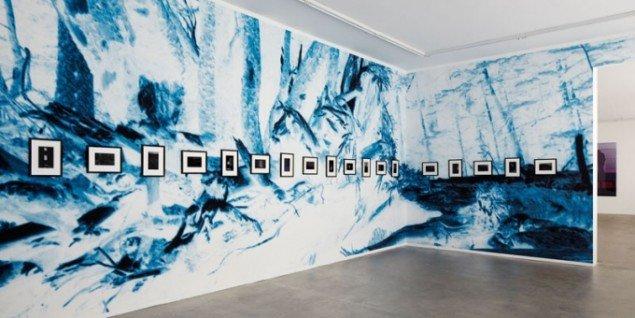Installationsview, Erik Steffensen: Blue Notes. (Pressefoto)