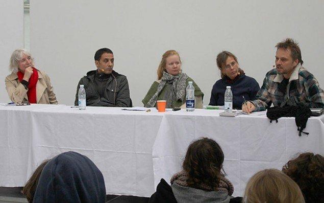 Panelet til den afsluttende debat (Elisabeth Delin Hansen, Kenneth A. Balfelt, Eva Christensen, Marianne Jørgensen og Morten Goll. (Foto: Mik Aidt, cki.dk)