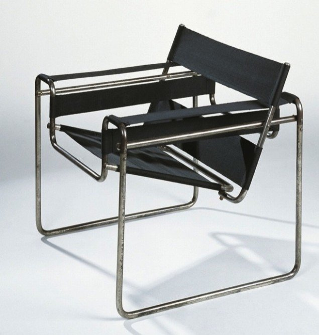 Den berømte Wassily-stol - opkaldt efter Breuers ven og kollega, maleren Wassily Kandinsky. 1925. Pressefoto.