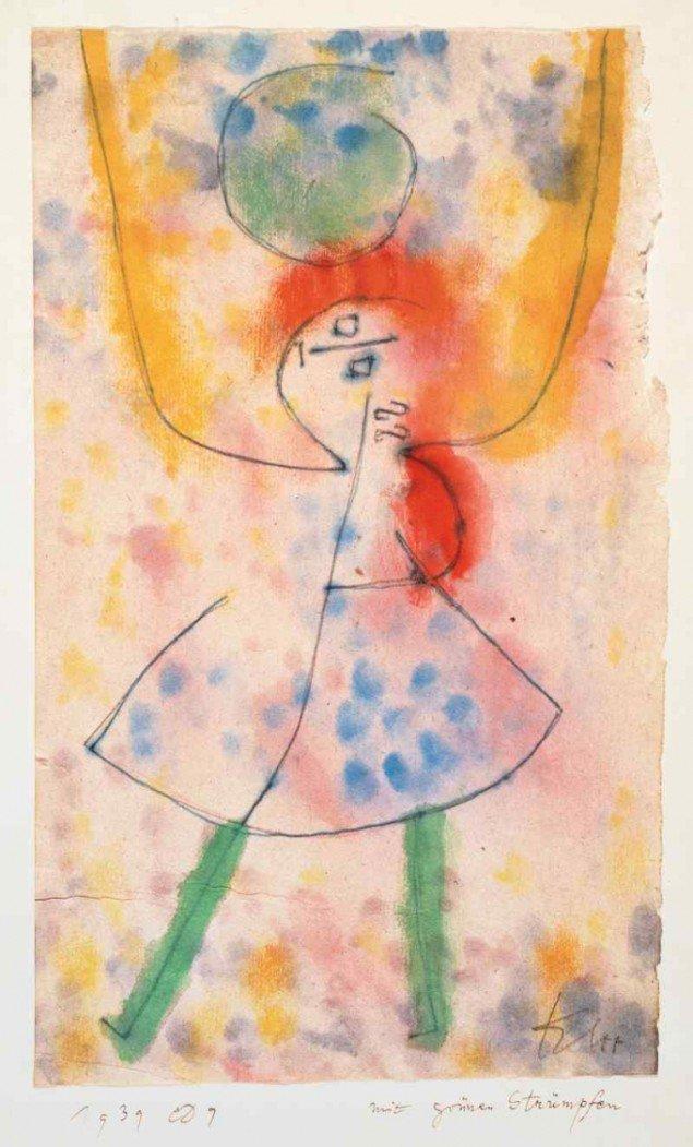 Med grønne strømper, Paul Klee, 1939 (foto: Presse)
